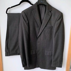 Marc Anthony || Charcoal Gray Wool Suit